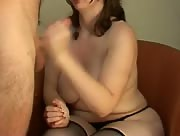 BBW gives killer handjob