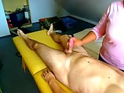 CFNM Massage Table Handjob