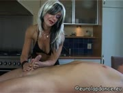 Hot  Mature Woman Cupping Balls While Giving A Handjob