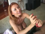 Janet Mason - Big Titted Hottie Jerking and Titty Fucking Black Dick